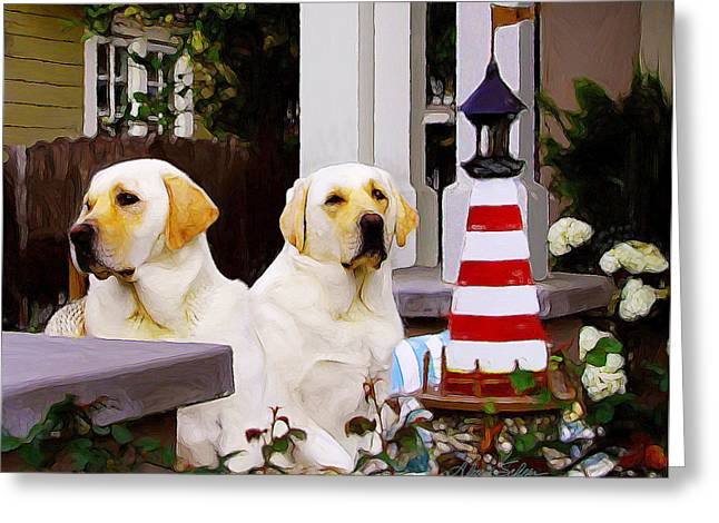 Archie And Jackie Greeting Card by Alice Schear