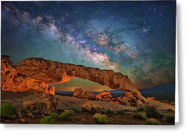 Arching Over The Arch Greeting Card