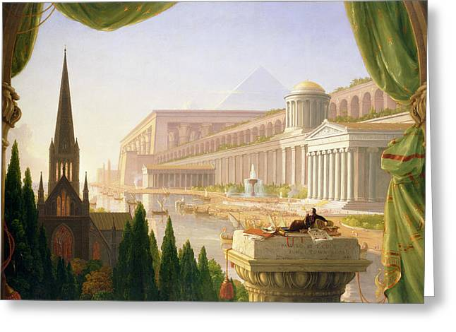 Architect's Dream  Greeting Card by Thomas Cole