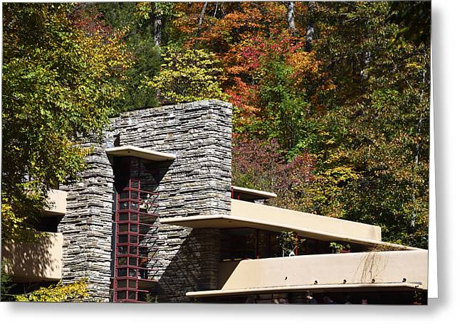 Architectural Detail Of Fallingwater -  Frank Lloyd Wright Greeting Card by Brendan Reals