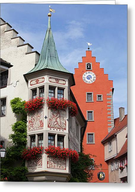 Architectural Details In Old City Greeting Card