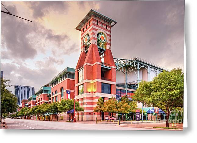Architectural Photograph Of Minute Maid Park Home Of The Astros - Downtown Houston Texas Greeting Card