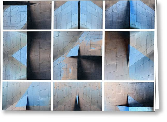Architectural Reflections Nine-print Panel Greeting Card
