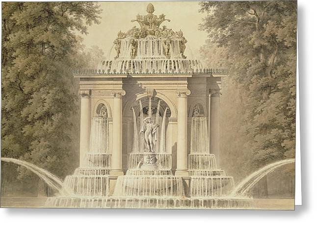Architectural Water Folly Greeting Card