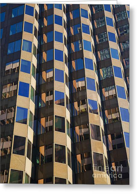 Architecture Abstract Greeting Card by Chris Dutton