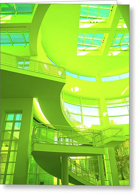 Green Splash Architecture Greeting Card