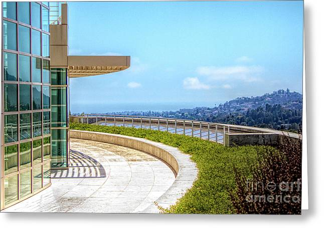 Architecture J. Paul Getty Museum California  Greeting Card