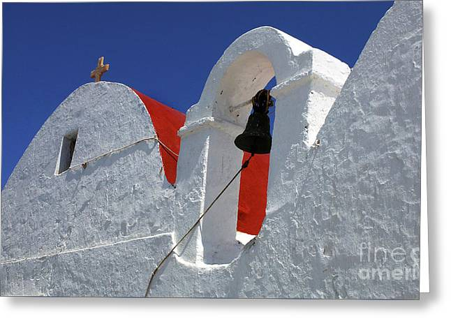 Architecture Mykonos Greece Greeting Card by Bob Christopher