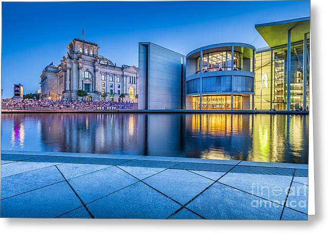 Architecture Of Berlin Greeting Card by JR Photography