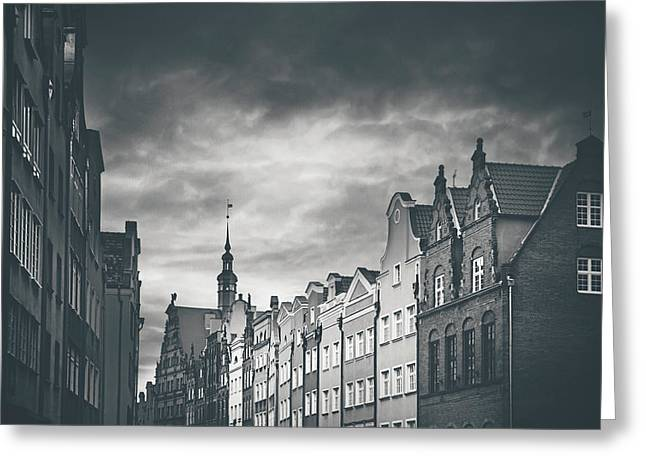 Architecture Of Old Gdansk  Greeting Card