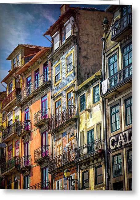 Architecture Of Old Porto Portugal  Greeting Card