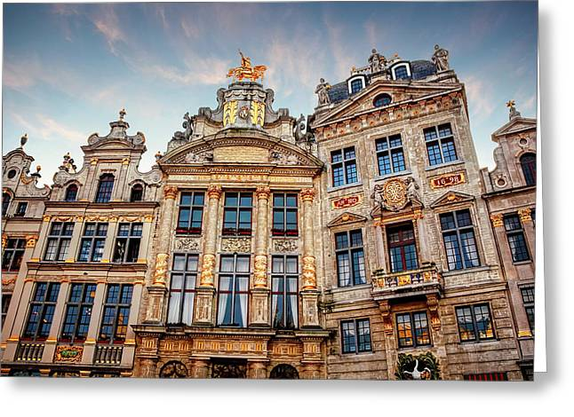 Architecture Of The Grand Place Brussels  Greeting Card