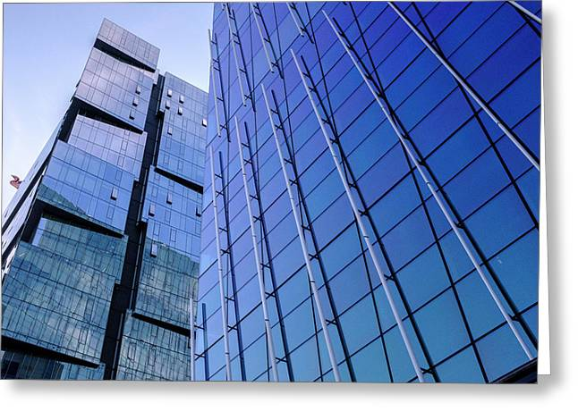 Architecture On The Streets Of Seattle Washington Greeting Card