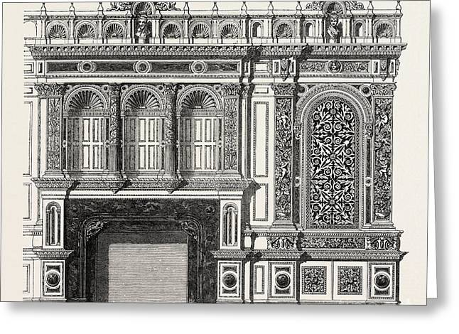 Architecural Plan For The Side Of A Library Greeting Card