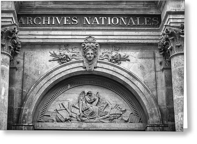Archives Nationales Greeting Card