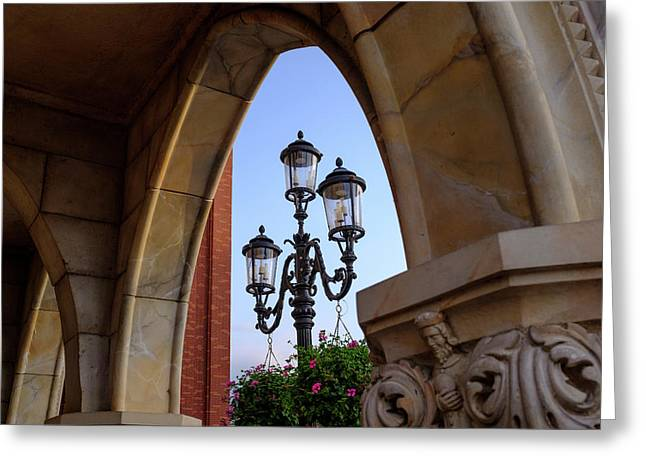 Archway And Lights In Orlando Florida Greeting Card