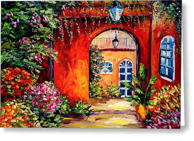 Archway Garden Greeting Card by Beata Sasik