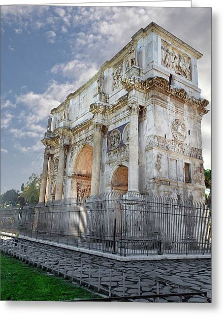 Greeting Card featuring the photograph Arco Di Costantino by John Hix