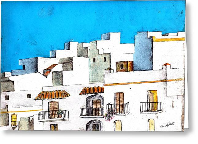Arcos De La Frontera Spain Greeting Card