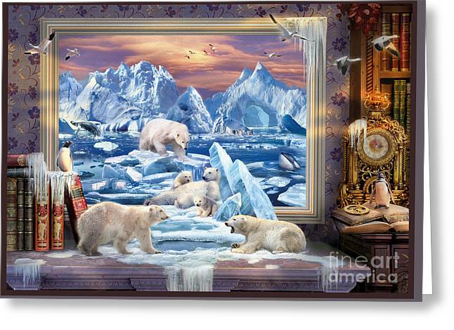 Arctic Bears Coming Greeting Card by Jan Patrik Krasny