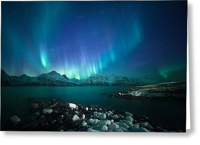 Arctic Blessings Greeting Card by Tor-Ivar Naess