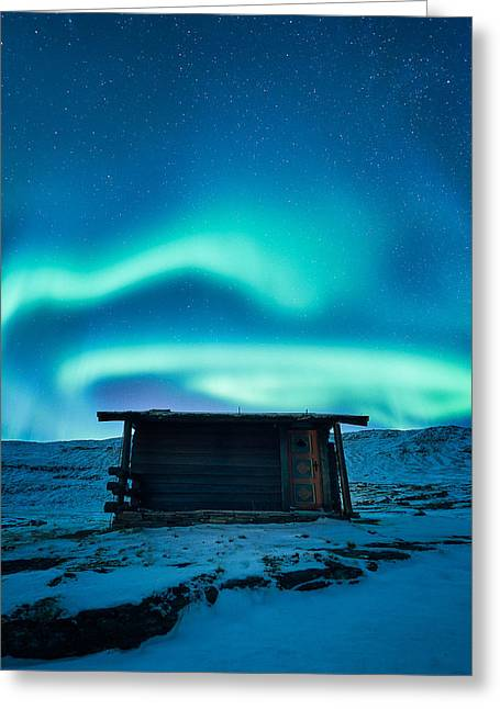 Arctic Escape Greeting Card by Tor-Ivar Naess