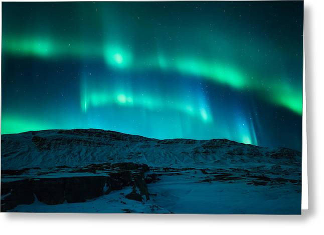 Arctic Glow Greeting Card by Tor-Ivar Naess