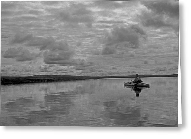 Arctic Kayak Greeting Card