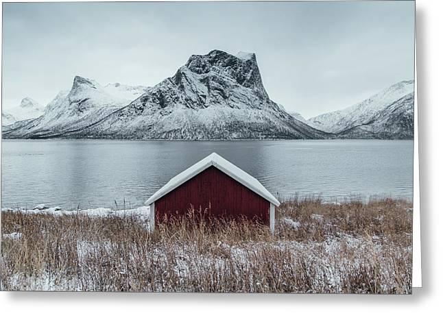 Arctic Landscape In Northern Norway, Senja Greeting Card