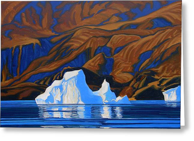 Arctic Tapestry Greeting Card by Paul Gauthier