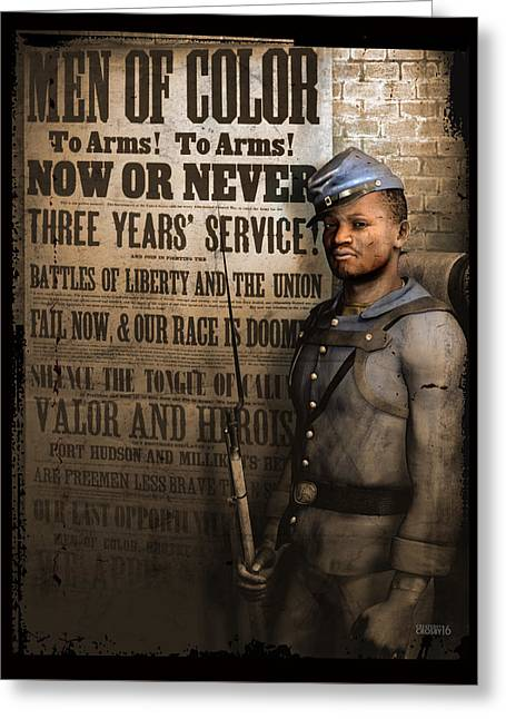 Are Free Men Less Brave Than Slaves? Greeting Card