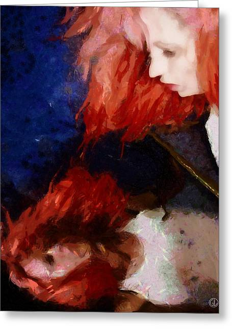 Greeting Card featuring the digital art Are You There My Mirror Twin by Gun Legler