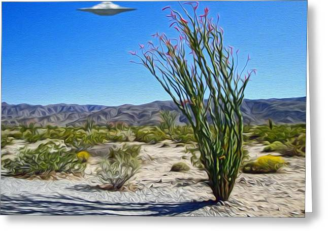 Area 51 U.f.o. Sighting  Greeting Card by Gregory Dyer