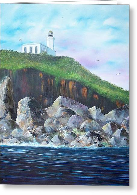 Arecibo Lighthouse Greeting Card by Tony Rodriguez