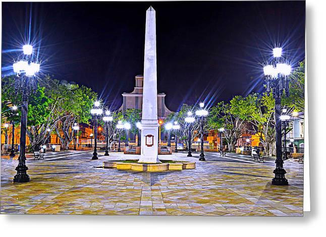 Arecibo Plaza Greeting Card by Dado Molina