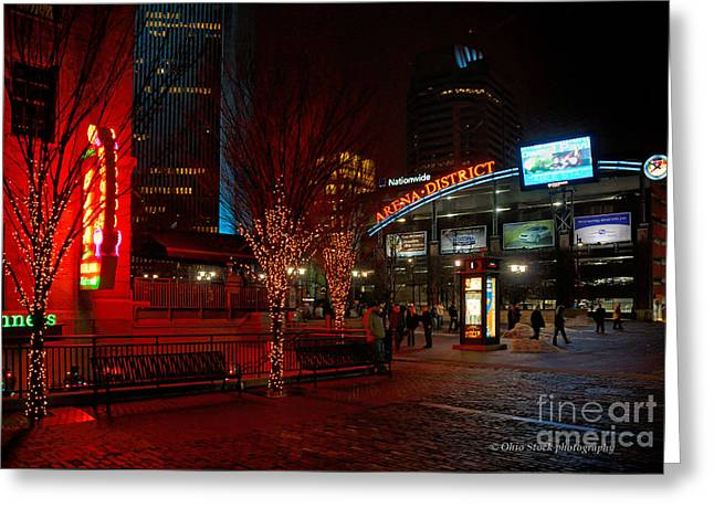 D66l-4 Arena District Photo Greeting Card