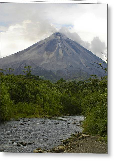Arenal By Day Greeting Card