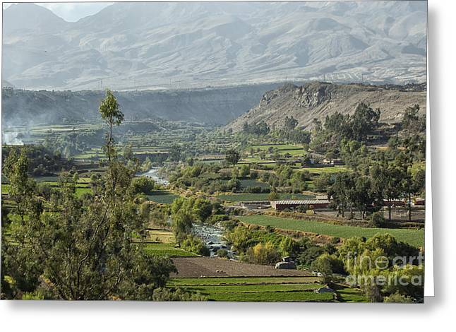 Arequipa Landscape Greeting Card by Patricia Hofmeester