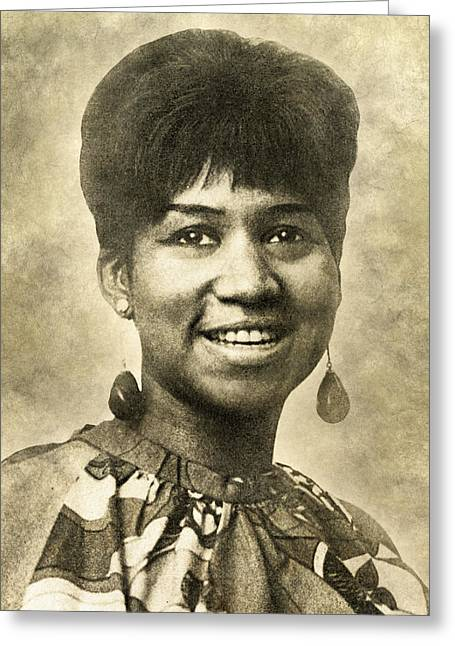 Aretha Franklin Queen Of Soul Greeting Card