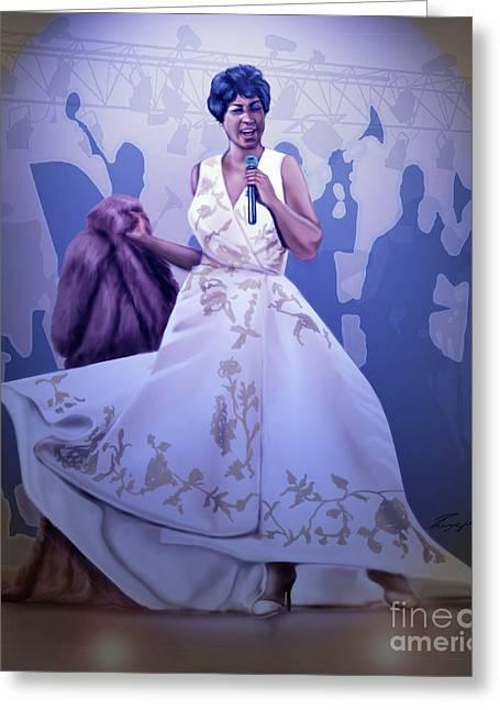 Aretha Franklin Rock Steady Greeting Card