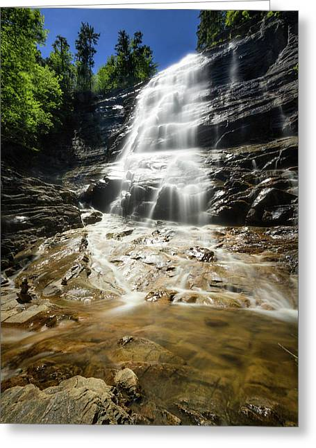 Greeting Card featuring the photograph Arethusa Falls by Robert Clifford