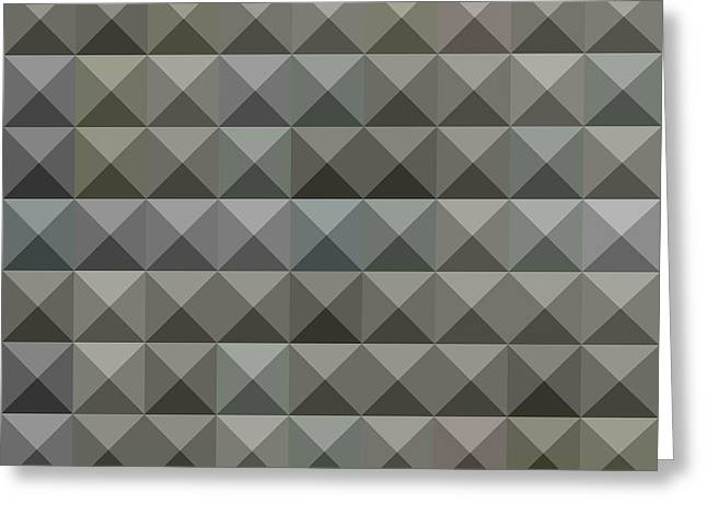 Argent Grey Abstract Low Polygon Background Greeting Card by Aloysius Patrimonio