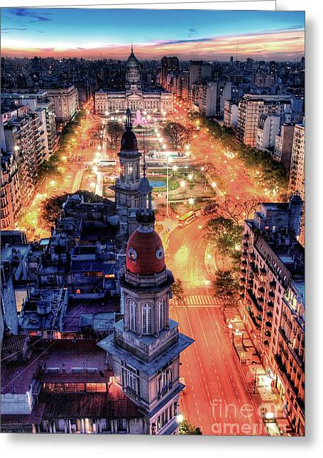 Argentina National Congress Greeting Card