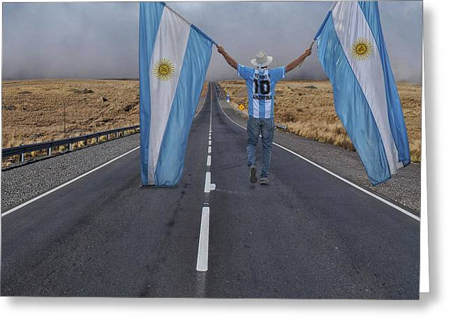 Argentino Greeting Card by Hans Wolfgang Muller Leg