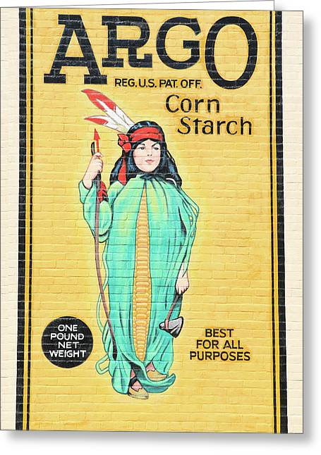 Argo Corn Starch Wall Advertising Greeting Card