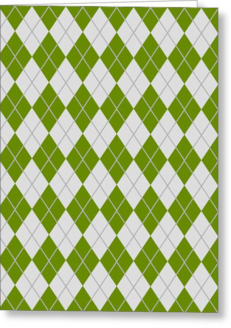 Argyle Diamond With Crisscross Lines In Pale Gray N09-p0126 Greeting Card by Custom Home Fashions