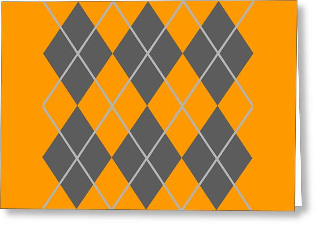 Argyle Diamond With Crisscross Lines In Pewter Gray N03-p0126 Greeting Card by Custom Home Fashions