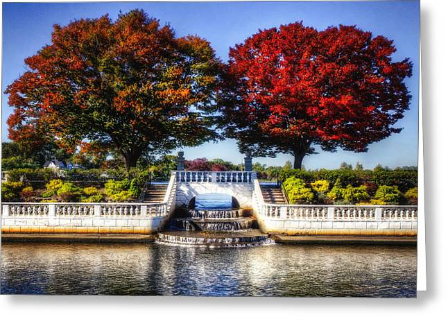 Argyle Falls In October Greeting Card by Vicki Jauron