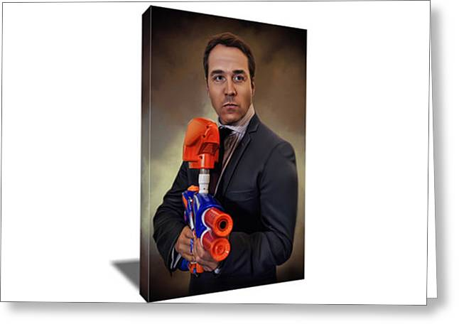 Ari Gold Canvas Art Greeting Card by Artwrench Dotcom