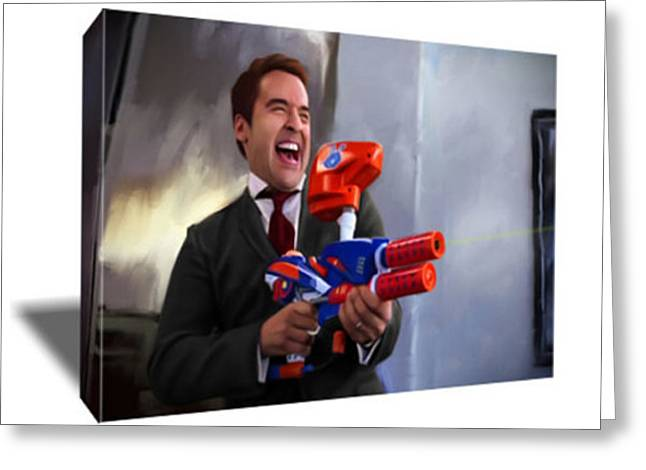Ari Gold You Fired Canvas Greeting Card by Artwrench Dotcom